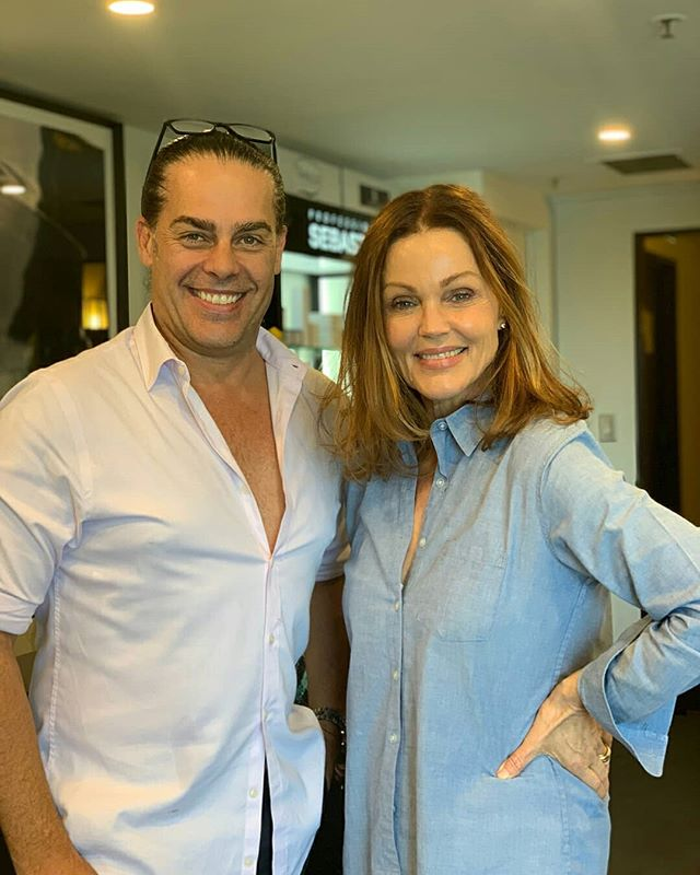 We had the absolute pleasure of having Belinda Carlisle from @travels_with_mrs_mason in the salon yesterday.  Fleur and I had the honour of looking after Belinda during her resent visit to Sydney. Thank you so much!! You are a true star and we hope to see you again soon!! #SebastianSalons