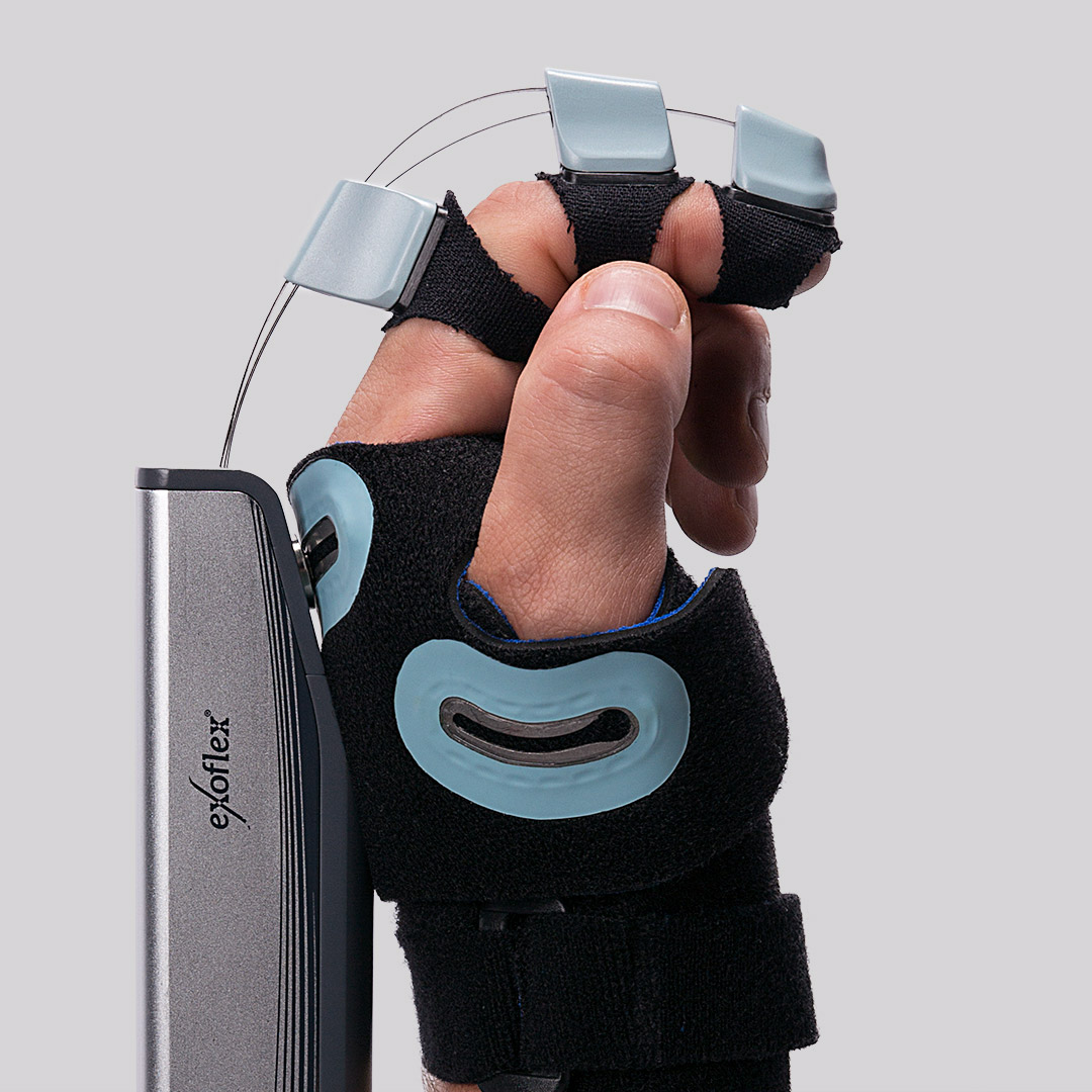 BES Rehab - exoflex hand therapy device