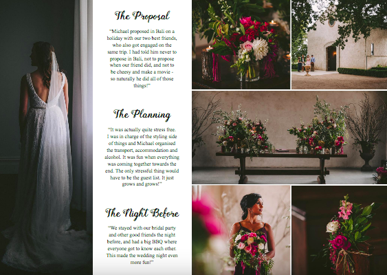 Wedding Playbook (Jessica & Michael)Magazine {Volume 10 Page 5} - http://www.theweddingplaybook.com/volume10/