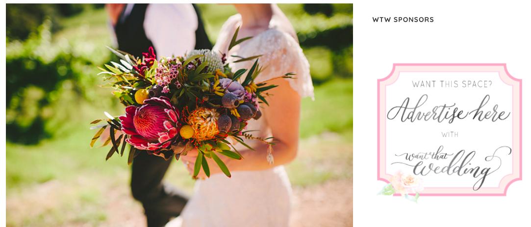 Want That Wedding (Kim & Chris) - http://www.wantthatwedding.co.uk/2014/07/03/a-nature-inspired-australian-native-flower-wedding-kim-chris/