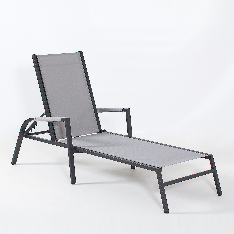 Coolum Sunlounger (Charcoal Frame)