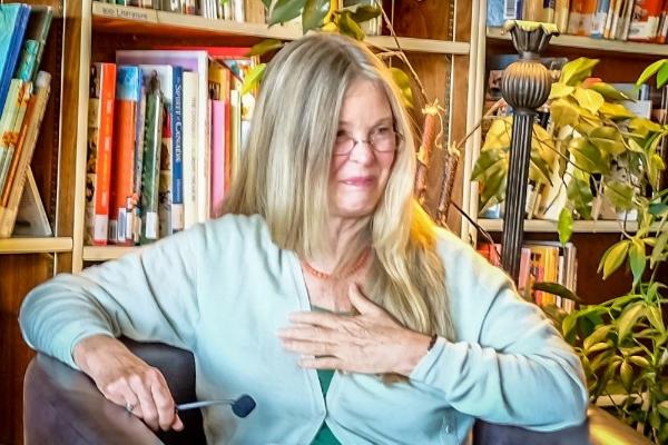 Pamela Wilson sharing Satsang
