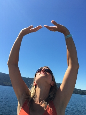 'Holding up the Heavens' on the Ferry between Crofton and Salt Spring Island, BC.