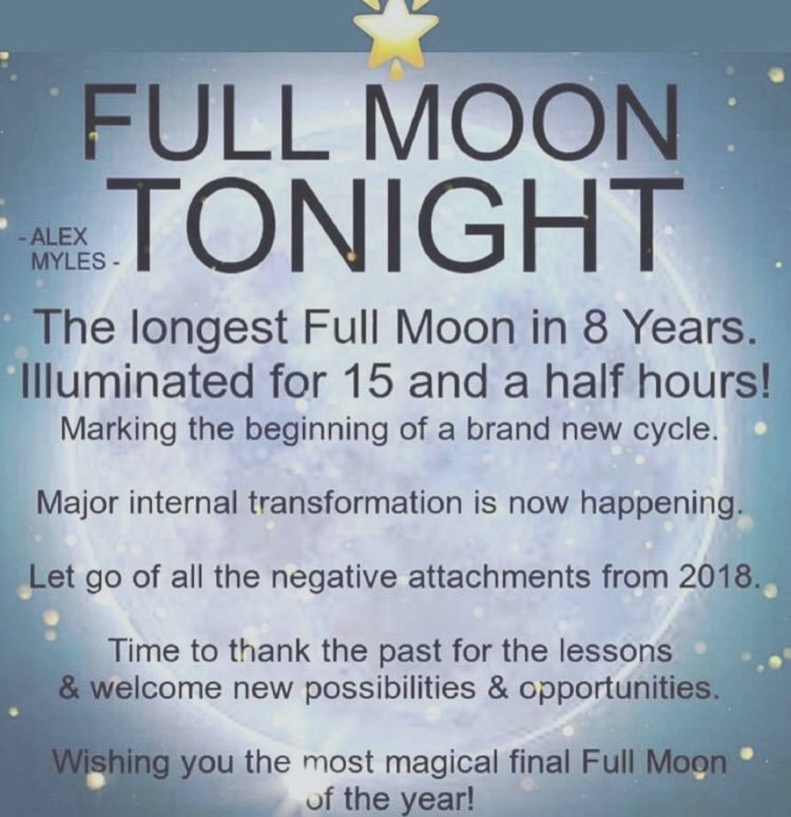 Full Moon was on December 22 at 10:48 am
