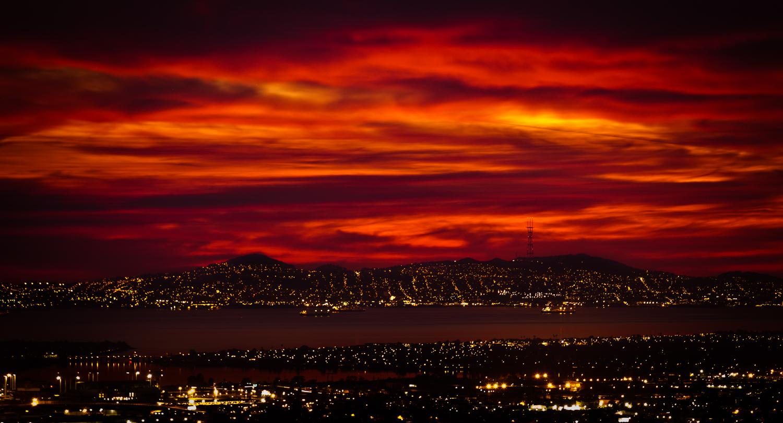 Sunset at Oakland Hills, Oakland, CA, 2011