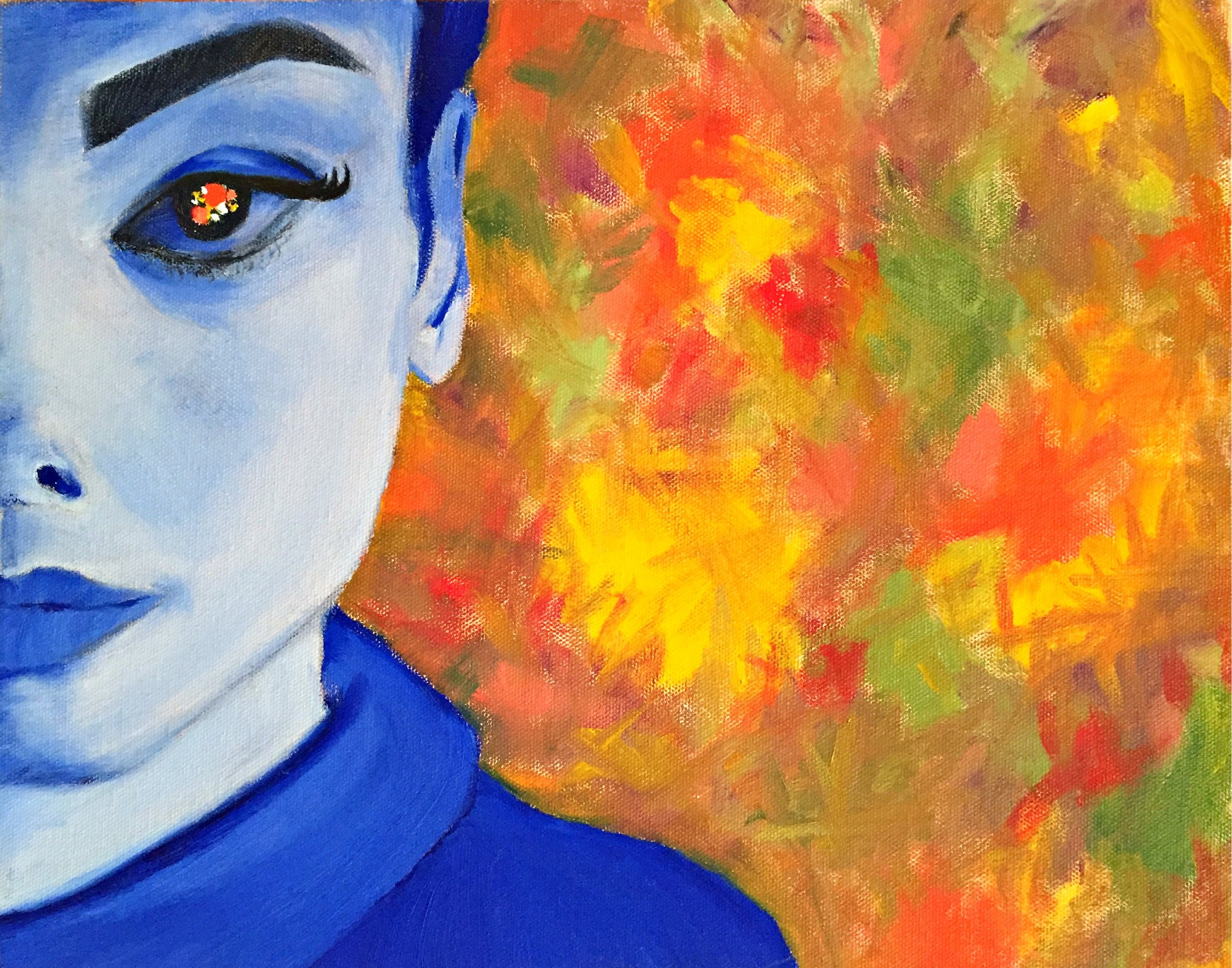 Un Arco Iris de Mujer,  Denisse Juliana Jimenez Chacon, Oil on canvas, 2017