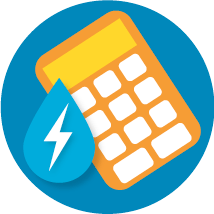 calculate water energy usage