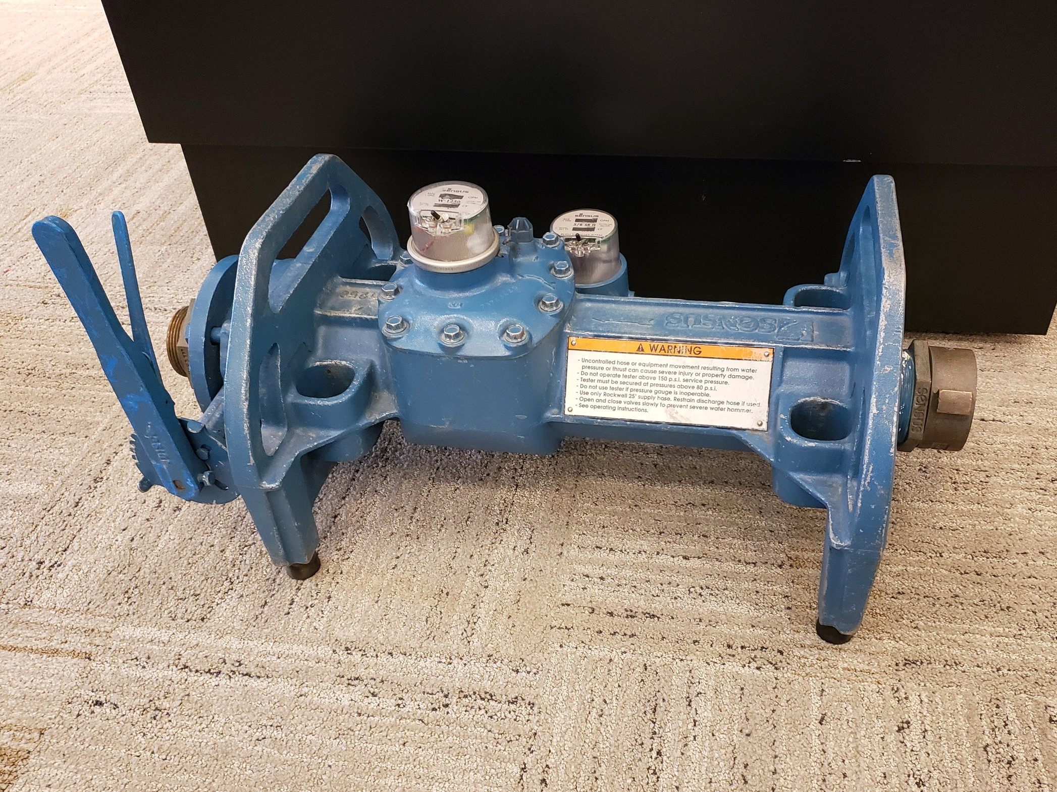 Portable large meter tester
