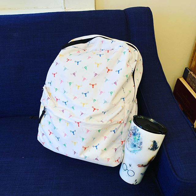 Today, in the Adventures of Amy and the Uteruses.... #uterusbackpack #HPmug #giftsfromfrands #HappyBirthDayBaby #Birth #Doula #doulalife