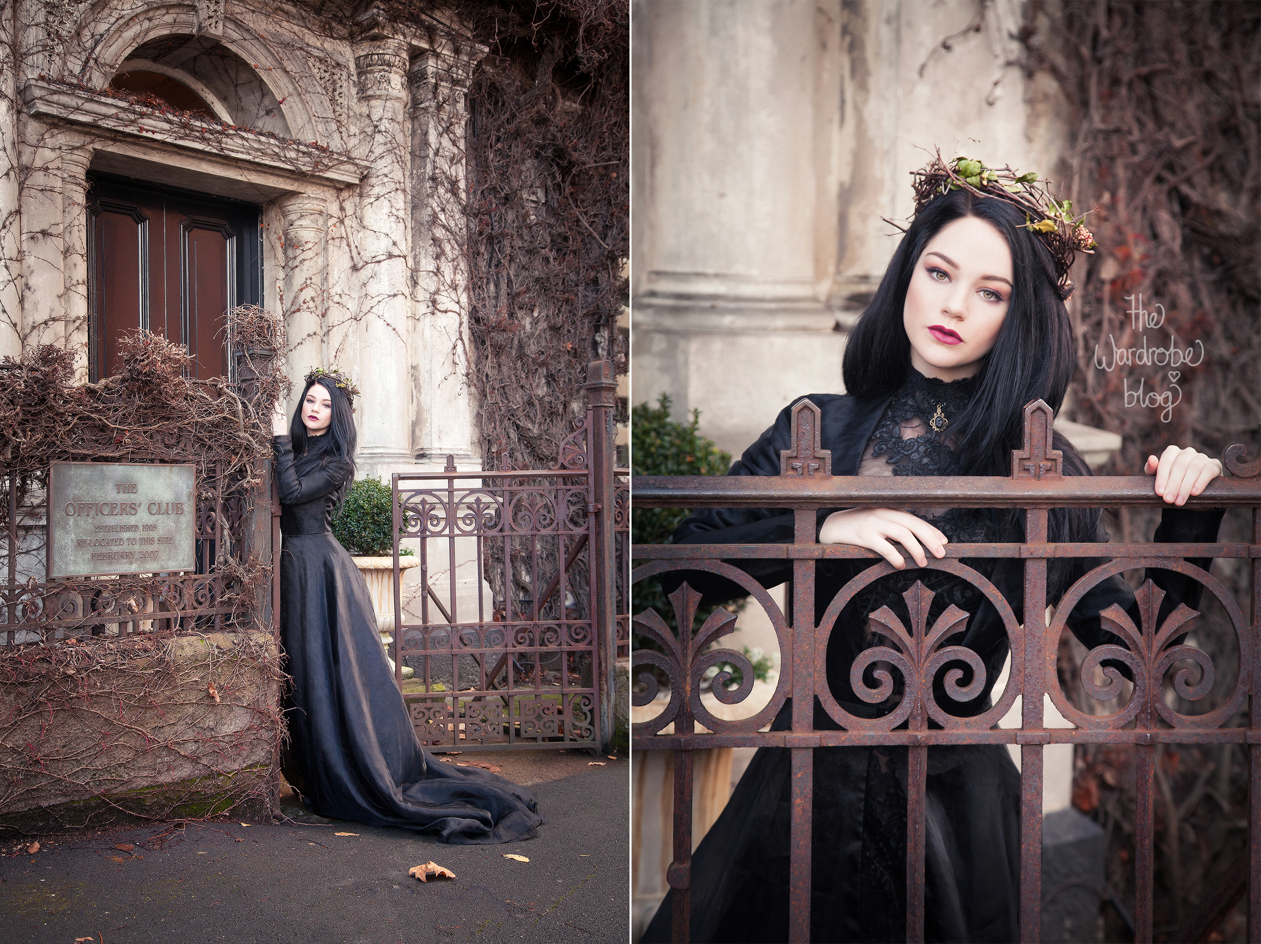 Dion wears a crown by Florist Ilene Hamilton + Dress from her own collection. Makeup and Hair by  Petra Marsalkova