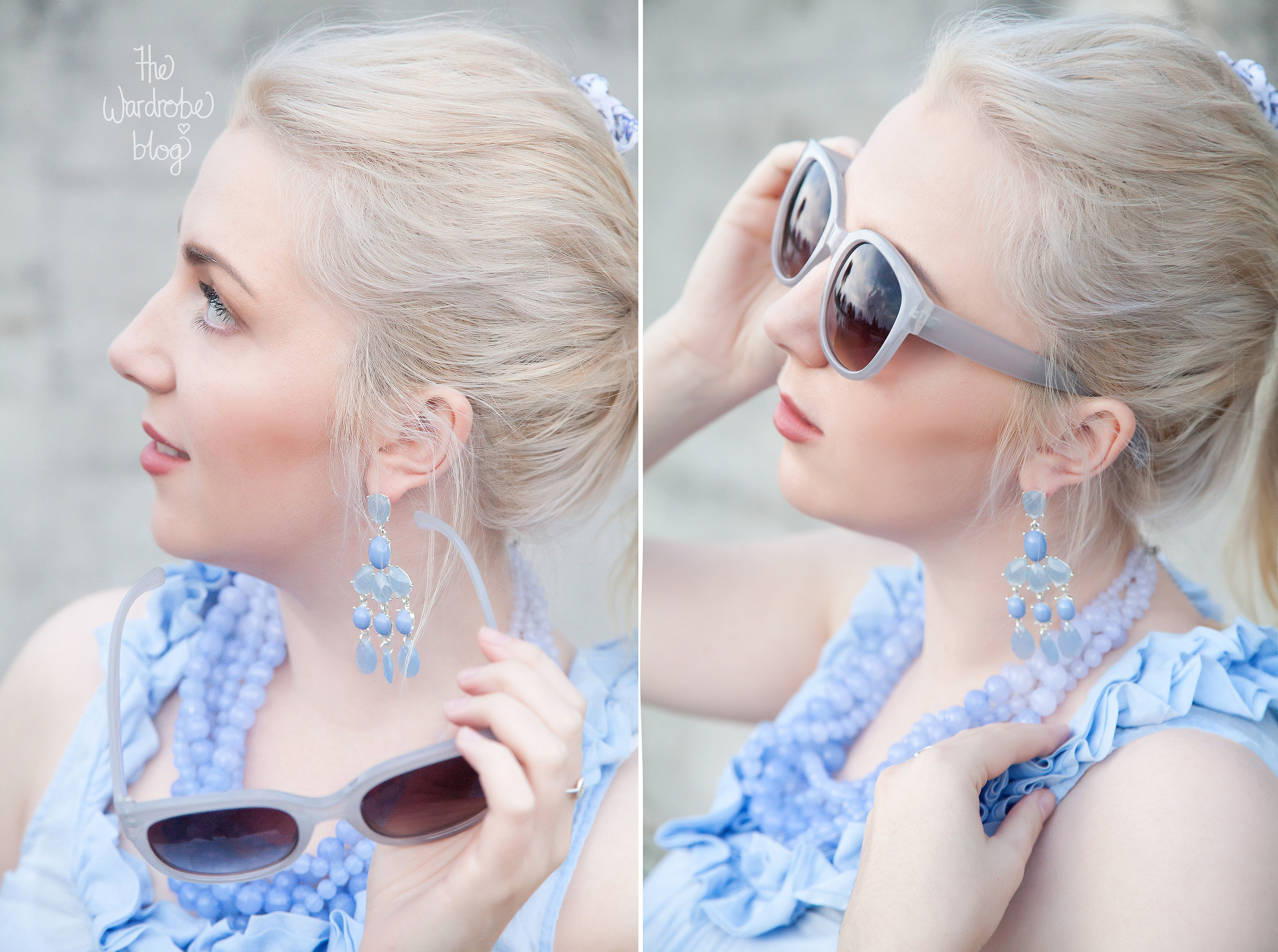 Top from Sussan, Necklace + Earrings from Lovisa Jewellery + Sunnies from Rubi.