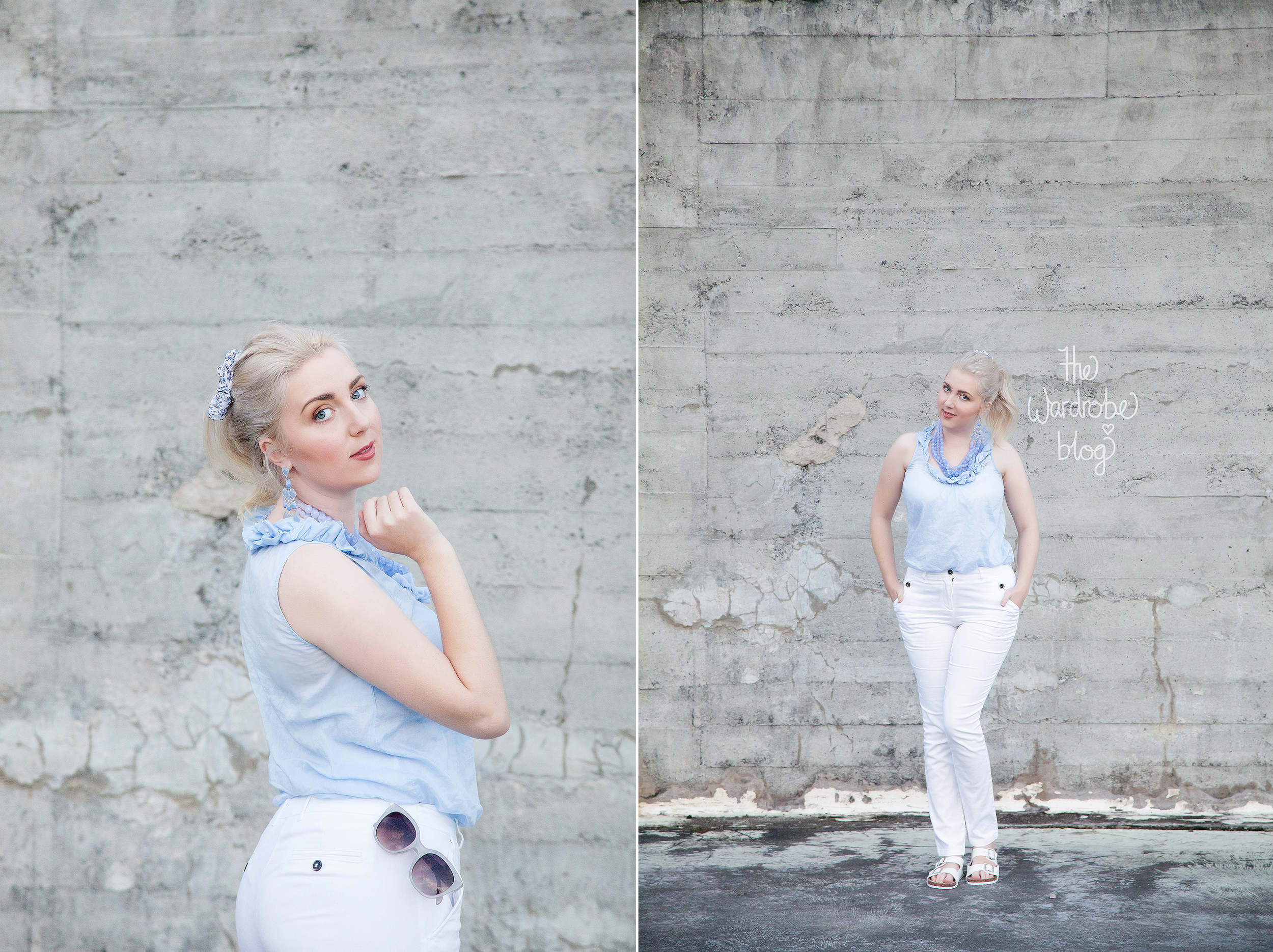 Chinos + Top from Sussan, Necklace + Earrings from Lovisa Jewellery + Sunnies from Rubi