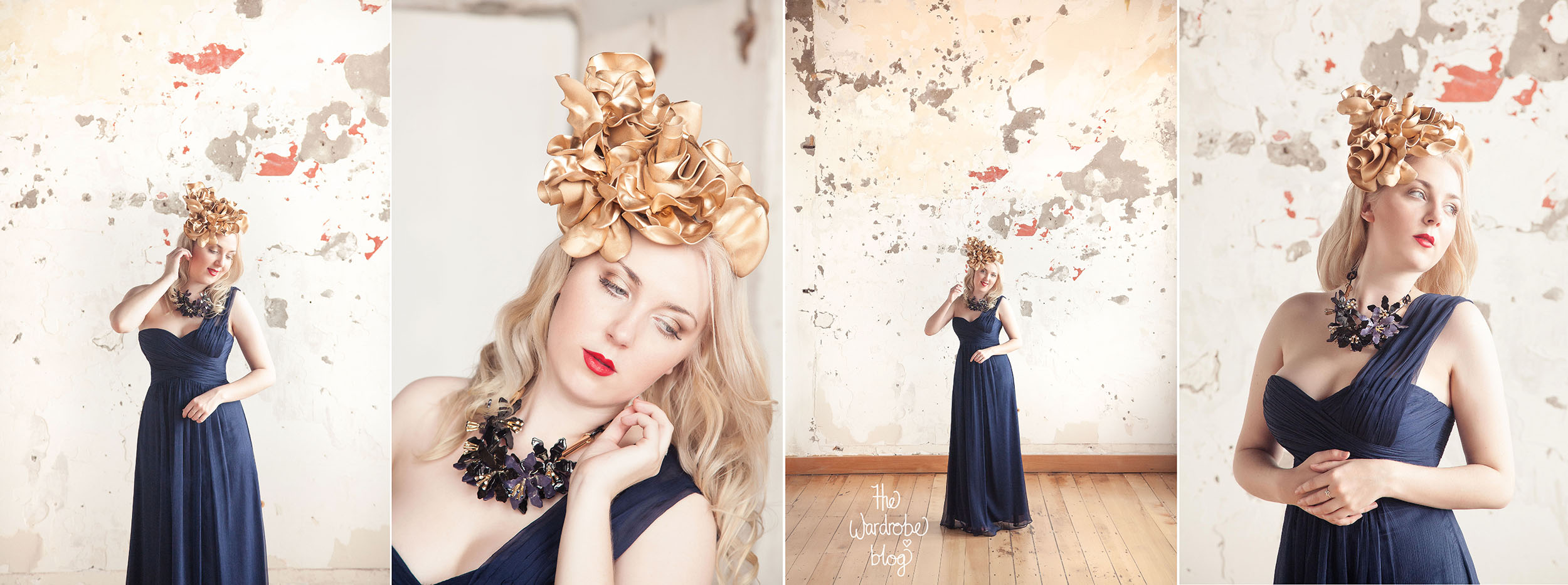 Gown from Hera Bridal, Necklace + Headpiece from Claire Hahn.