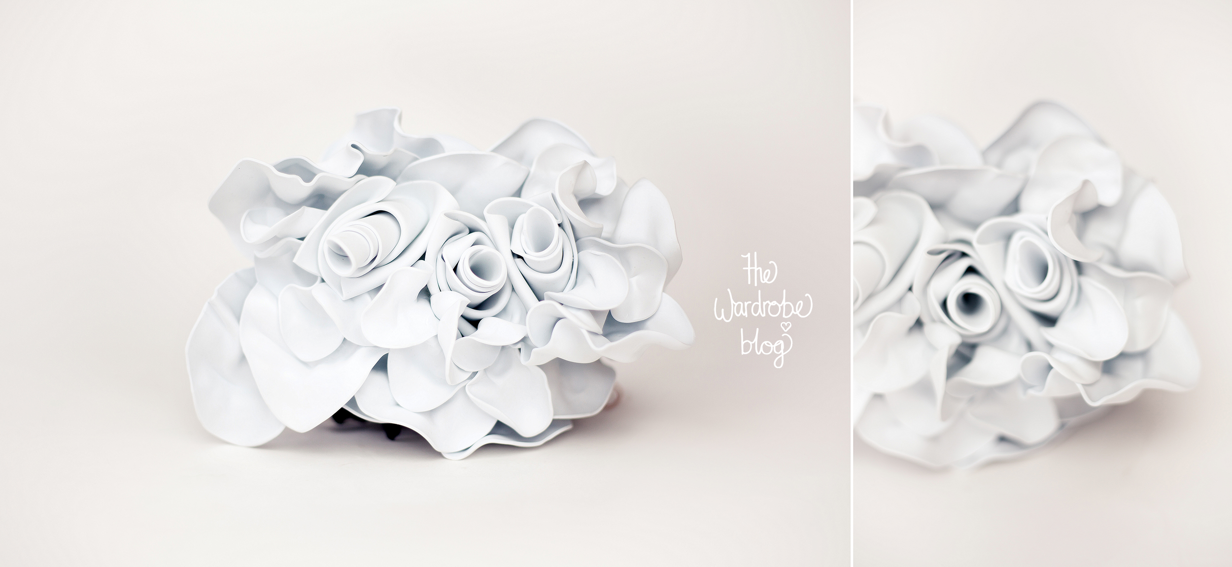 """Head piece in White from the """"Bloom"""" Collection '16 by Claire Hahn."""