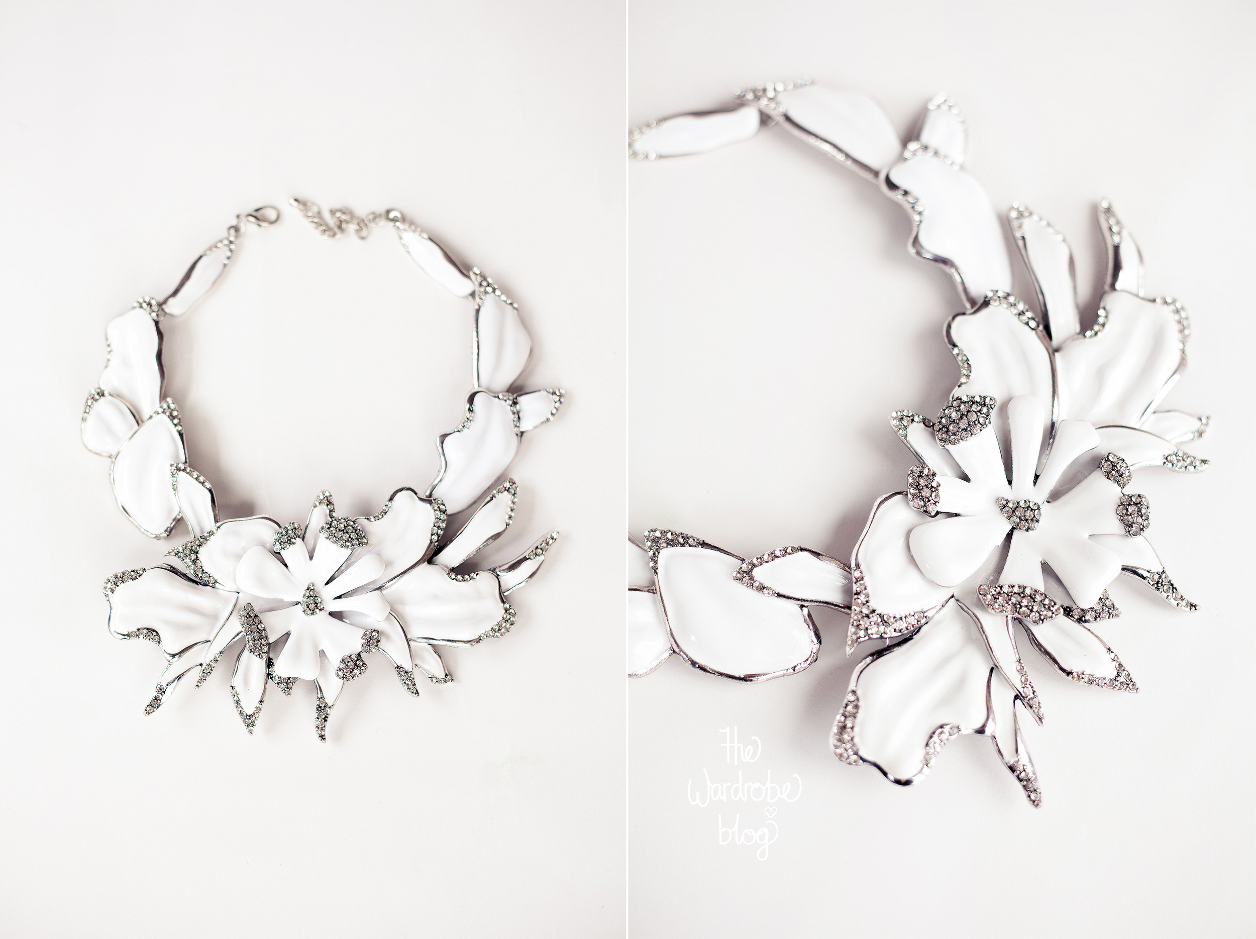 The Orchid Necklace from Claire Hahn.