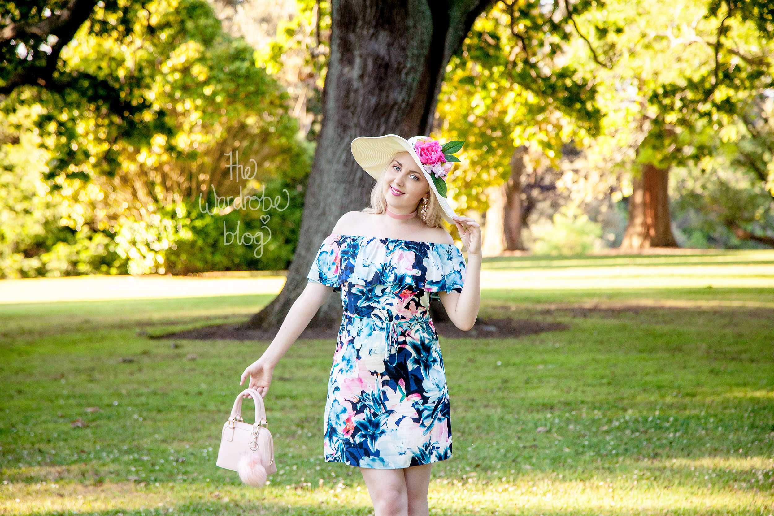 Dress from Portmans, Bag + accessories from Colette by Colette Hayman, Hat from Kmart + Hairflower from  Shop the Wardrobe on Etsy.