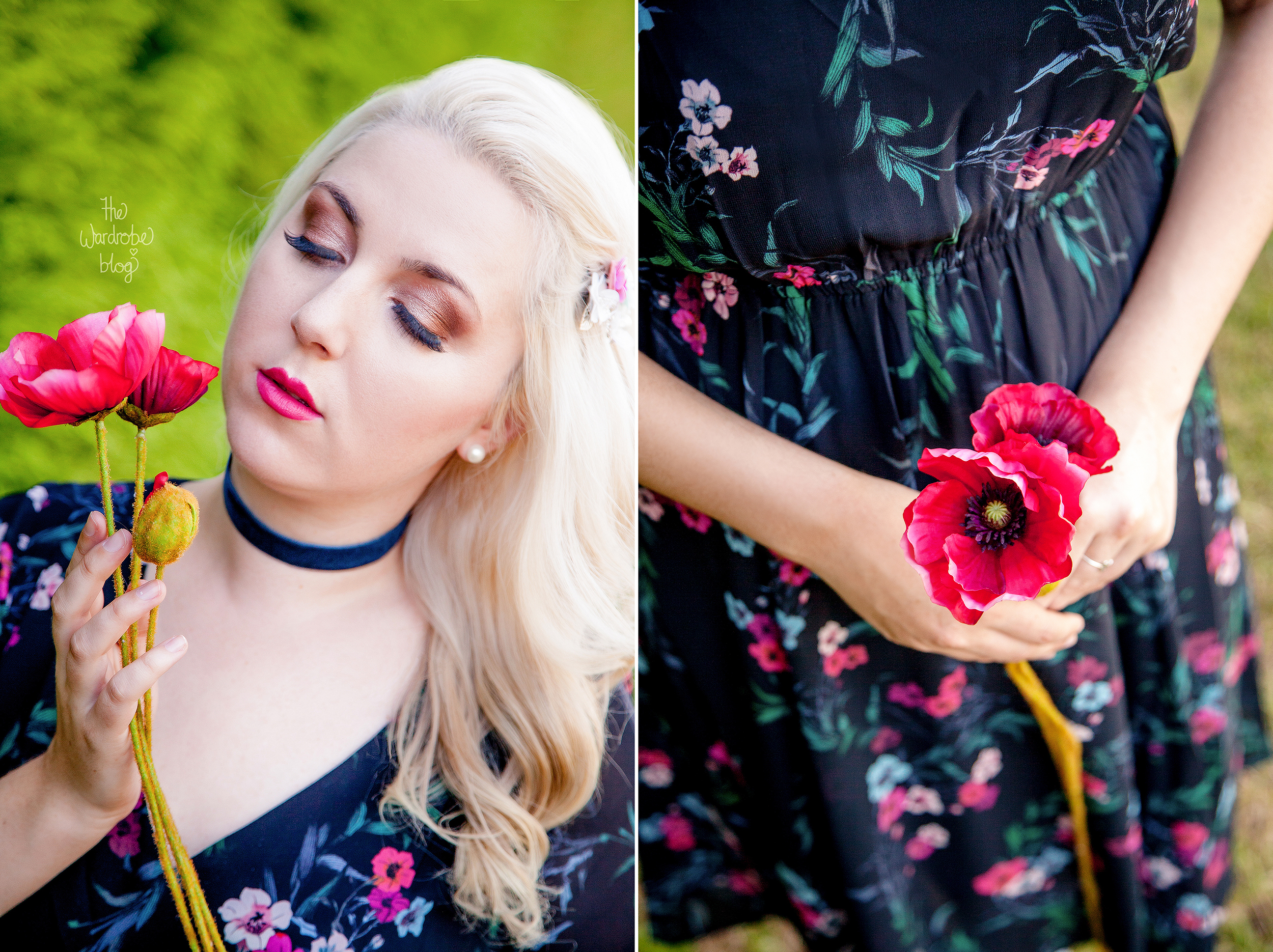 Poppy-Max-Floral-Print-Dress-Choker