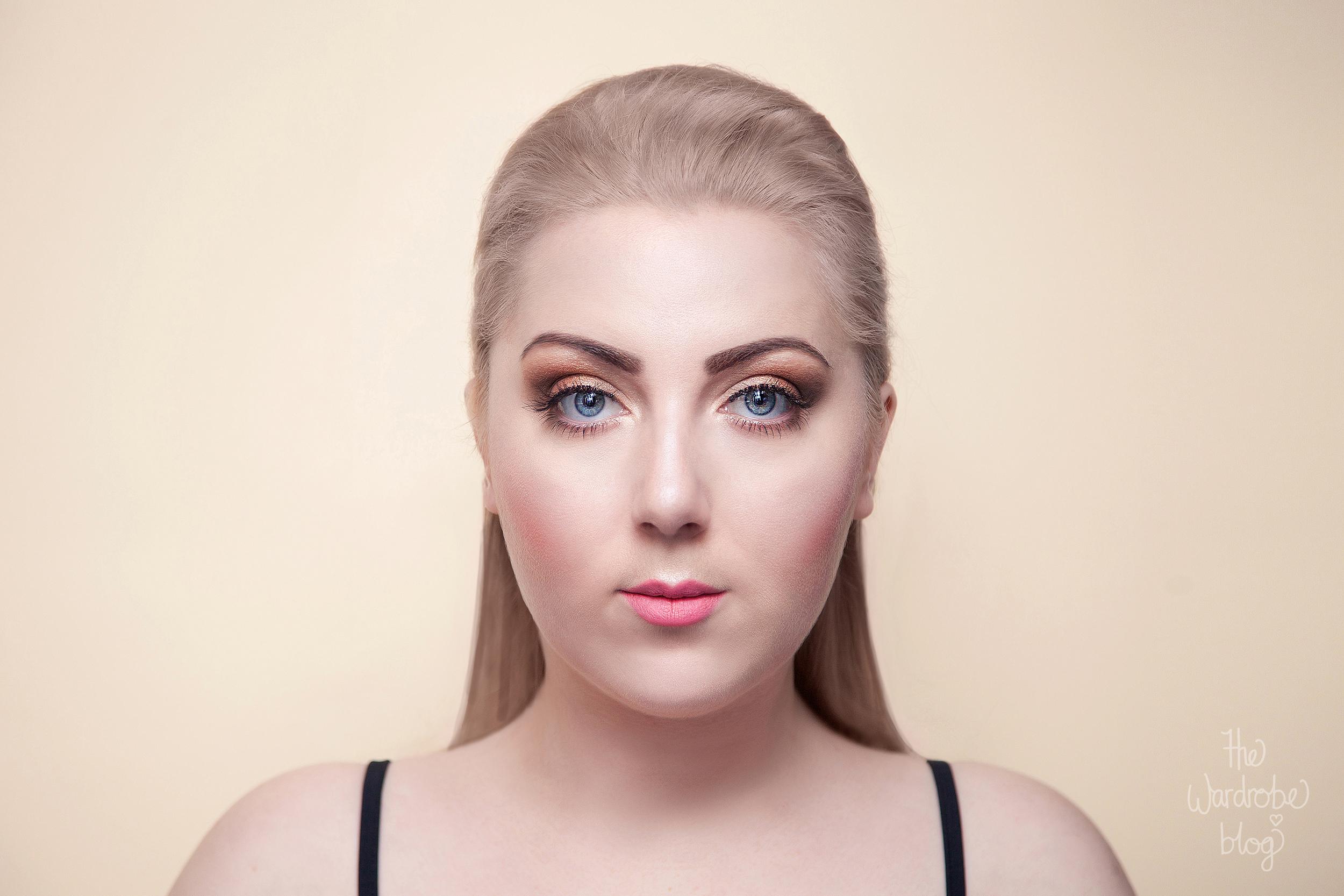 Pink-Lip-Copper-Eye-Makeup