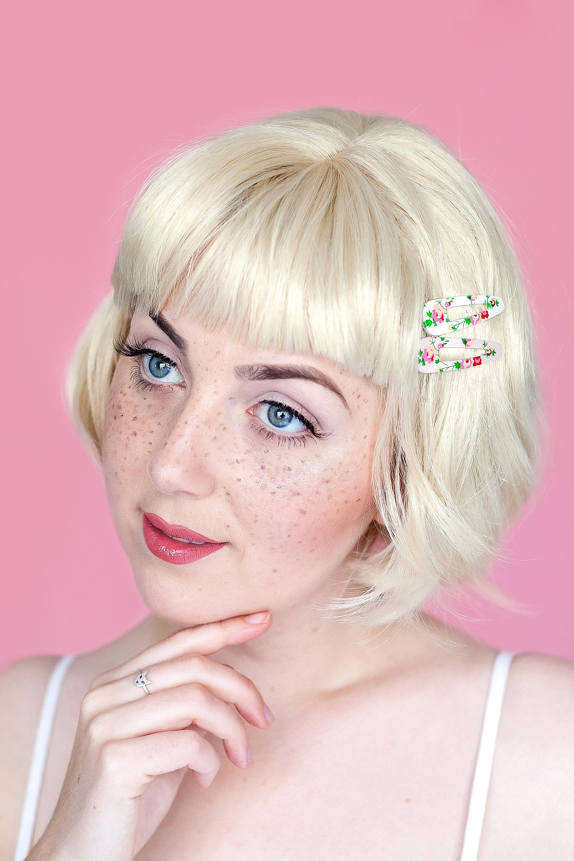 Eyes: Modelrock lashes Lips: Rimmel London 'Stay Matte' Lipcolour in Pink Blink.