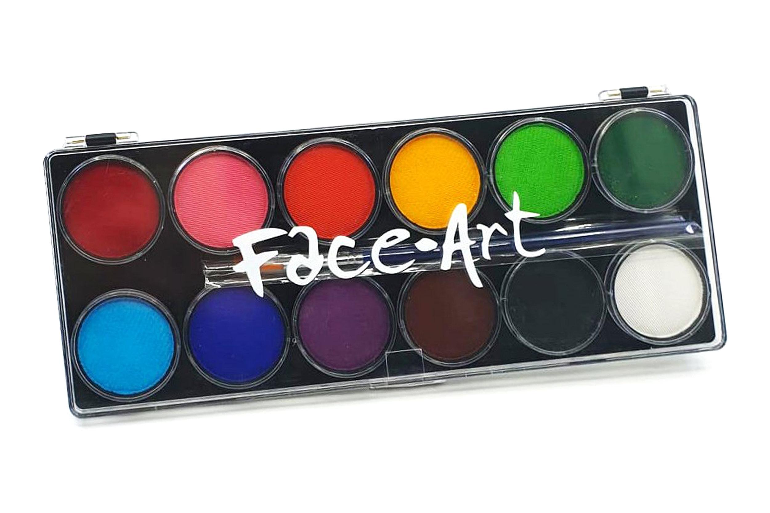 12 Colour Paint Palette from  'BodyFX'