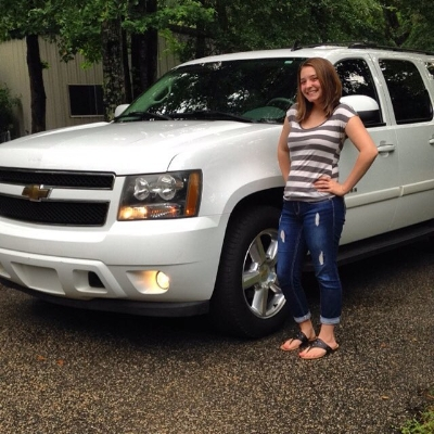 """Me with our """"new"""" Suburban (May 2016)"""