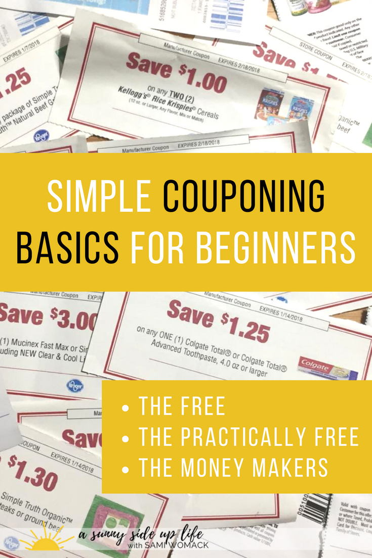 All the basics I needed to know about coupons! Couponing for beginners | couponing 101 | Where to start with coupons | Couponing resources | Coupons Basics | How to get free stuff with coupons | How to save money with coupons | Where to start with a budget | Budgeting for beginners | Budgeting Basics | How to start a budget