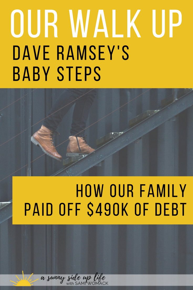 Our Walk Up Dave Ramsey's Baby Steps | Sami Womack | debt free | budgeting | Dave Ramsey | Dave Ramsey Baby Steps | how to become debt free
