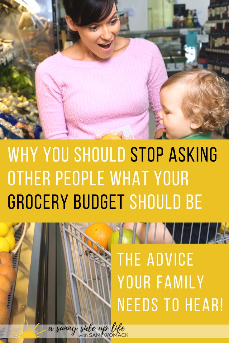 Why there is no such thing as a normal grocery budget | Sami Womack | budget tips | for beginners | family budget | grocery | groceries | food | kids | mom life | mom hacks | motherhood | how to budget for | where to start with budgeting |  overwhelmed with budget | stressed about money | bills | debt | budget | household budget | frugal tips
