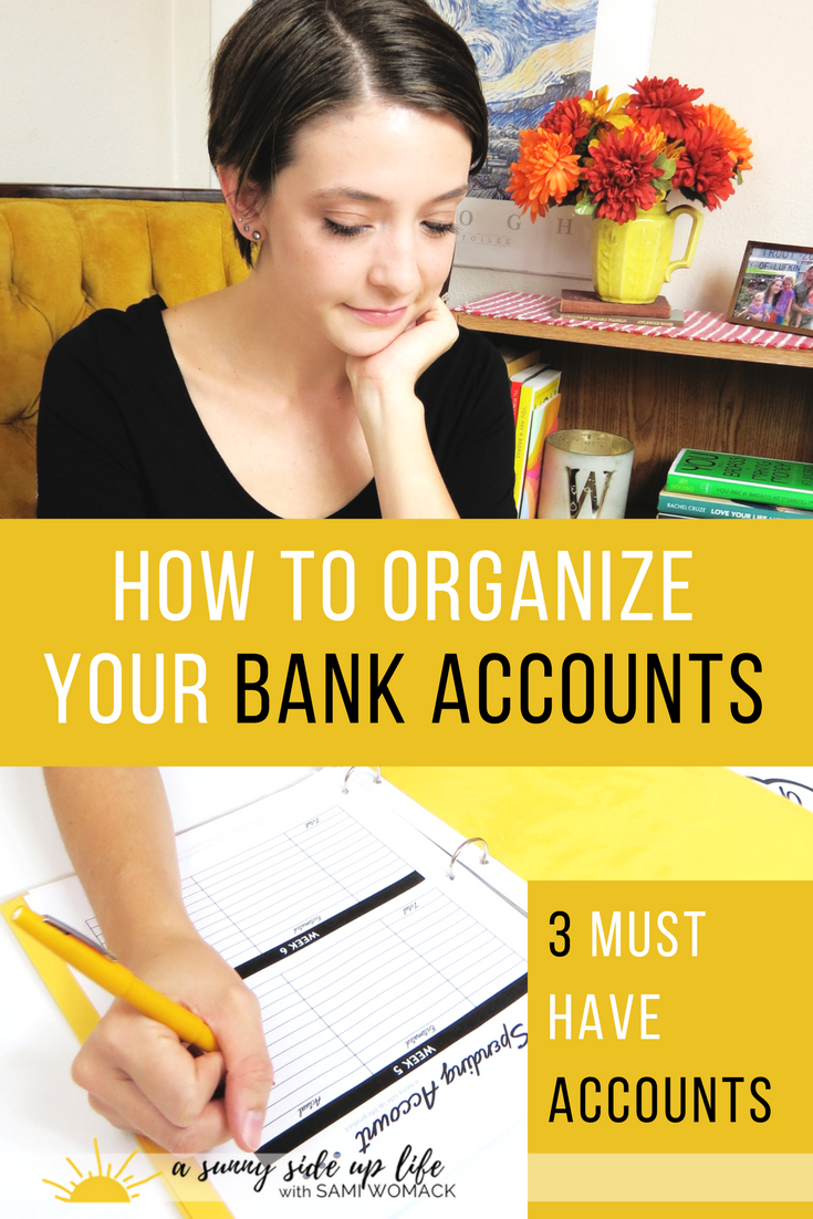 How I organize my bank accounts | Sami Womack | checking account | savings account |emergency fund | debit card | cash system | envelope system | budget | how to |where to start | dave rasmey | family budget | get started | pay off debt | save money | mom hacks | start a budget | organize budget | budgeting for beginners | where to start with budgeting | motherhood