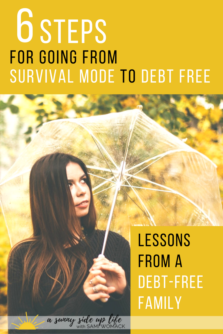 How to go from survival mode to debt free | Sami Womack | budget tips | budgeting for beginners | debt free tips | how to budget | become debt free | where to start with budgeting | debt | budget | budgeting | free | free course | personal finance | household budget | personal budget | dave ramsey | how to | where to start with | How to pay off debt | How to become debt free | Dave Ramsey Baby Steps | How to create a budget | Debt free for beginner |Motivation | Debt free| blog | video | ynab