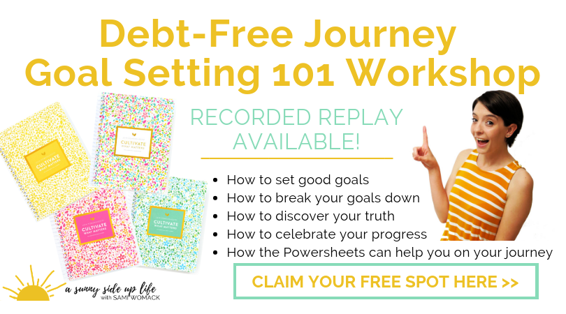 debt free journey goal setting workshop 2019 powersheets