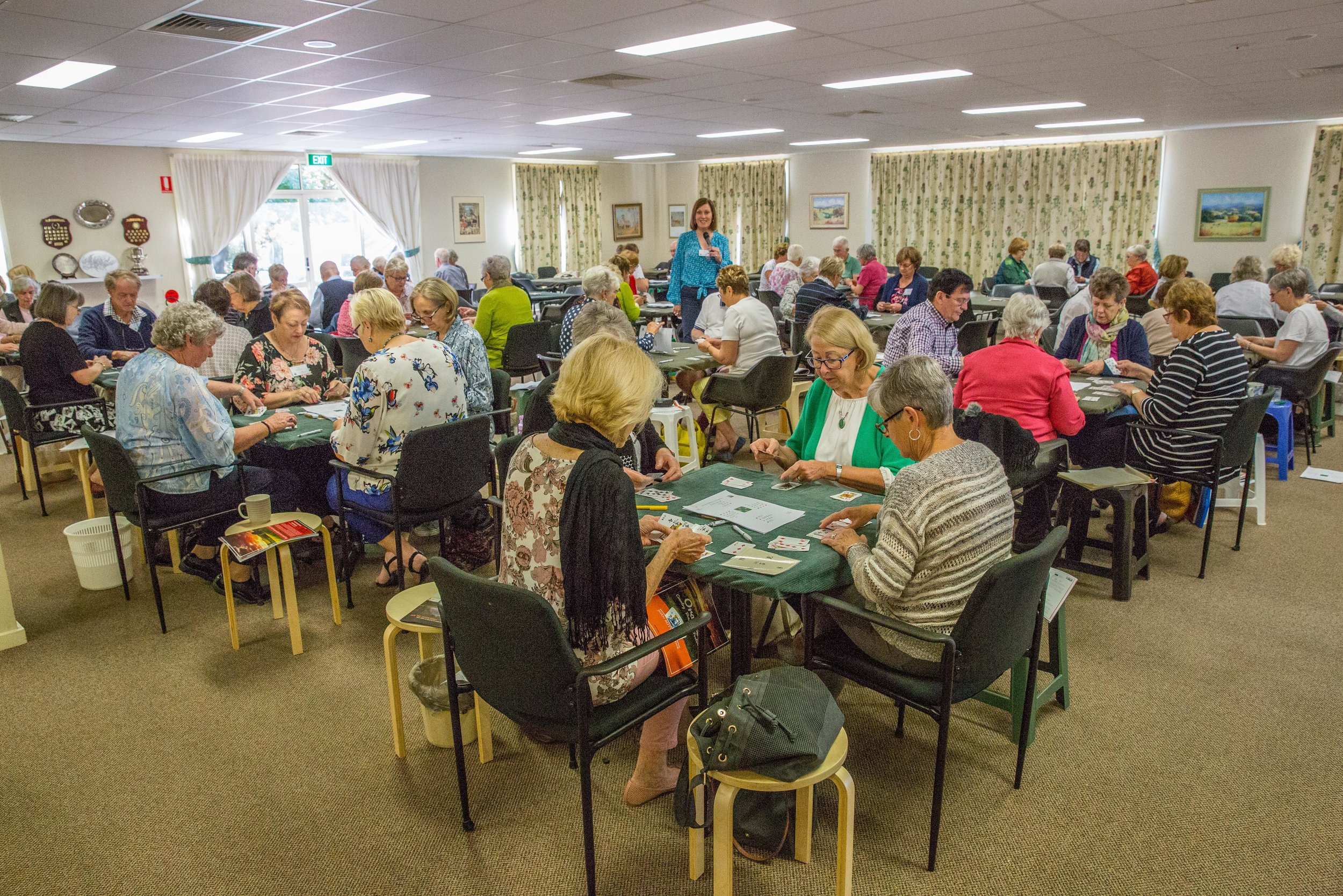 We had a record number of tables for games and lessons at the Orange Country Bridge Festival.