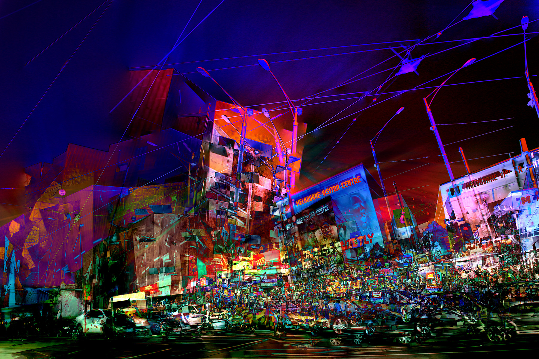 Fed Square - Night - Urb22