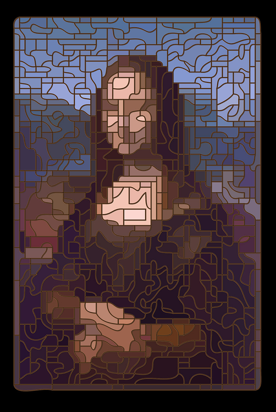 Stained Glass Mona