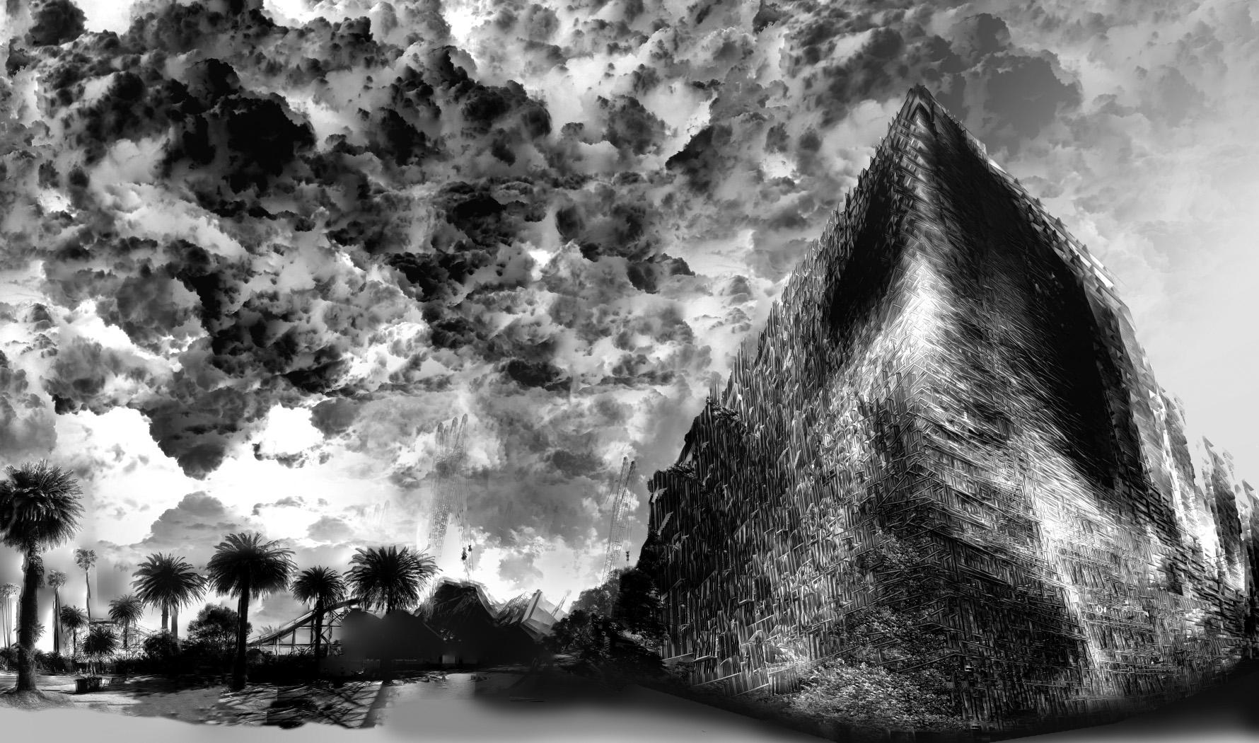 Construction of the Pyramid - St Kilda
