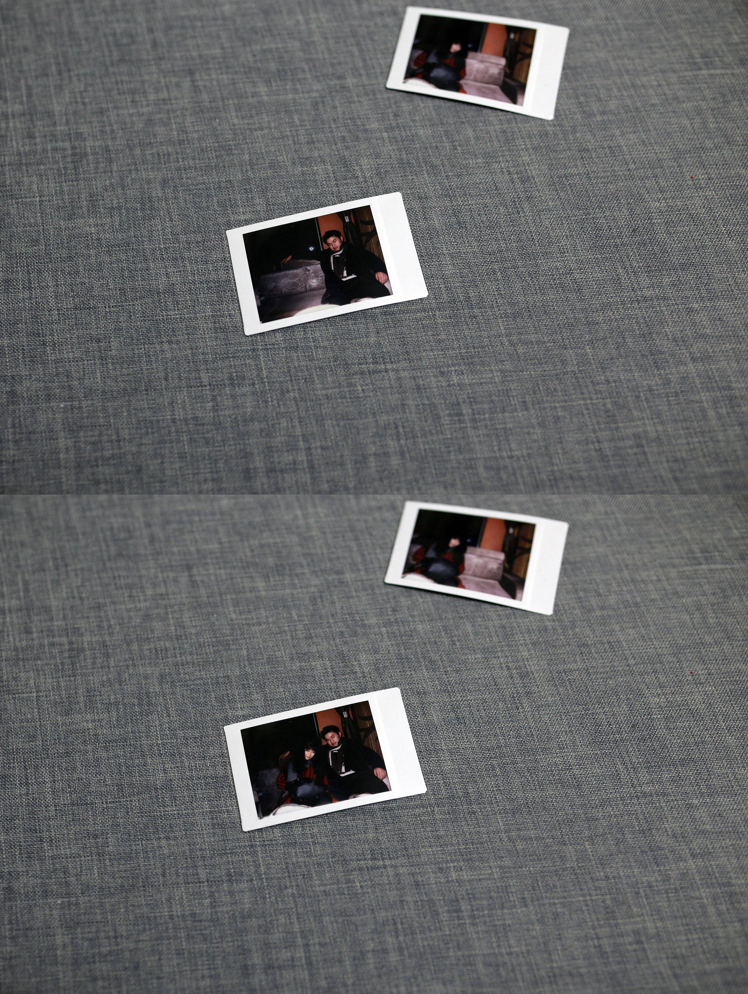 """Me and """"her"""" taken and faked by Polaroid 用拍立得伪造合影"""