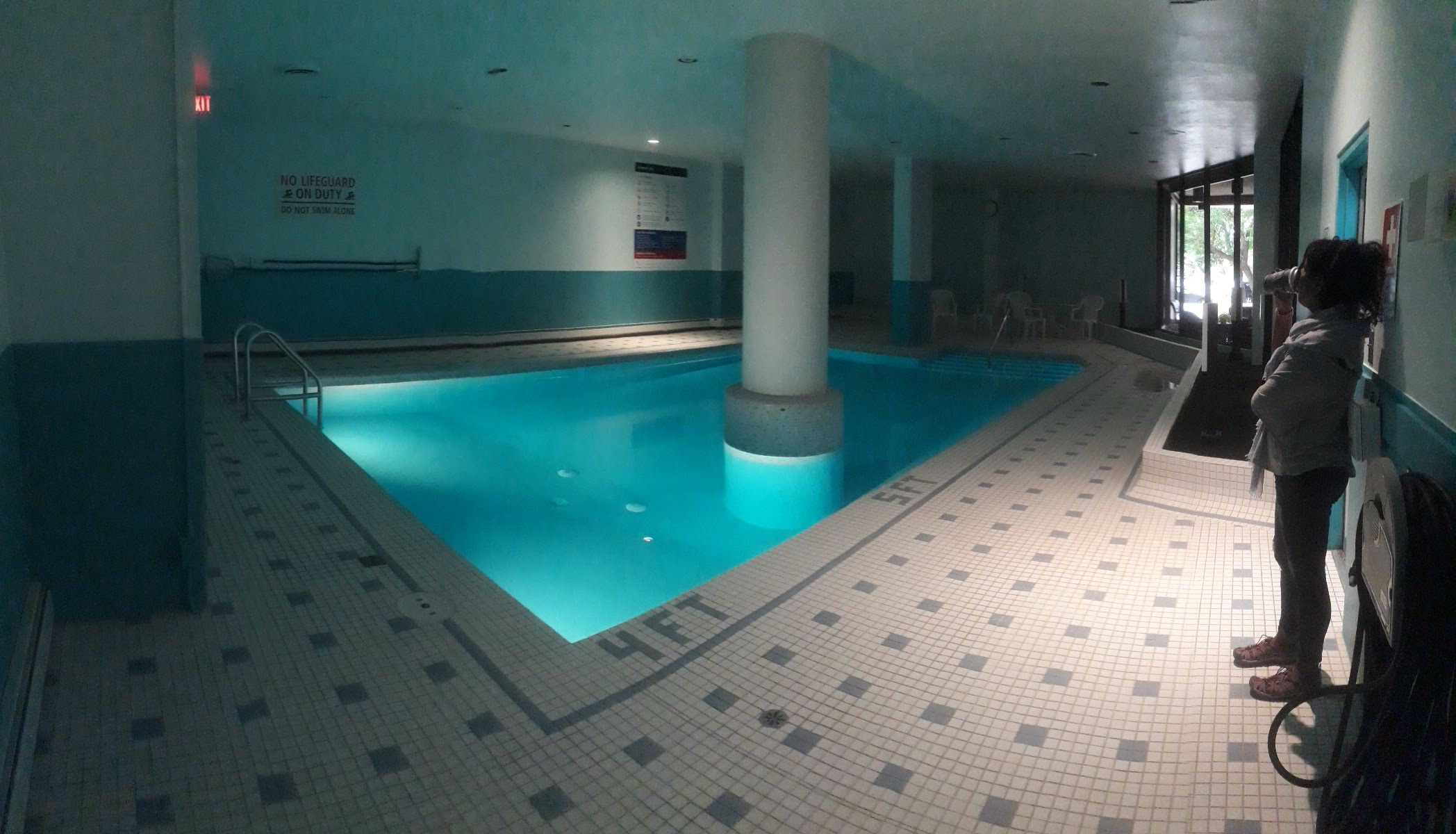 Our new condo building even has a beautiful indoor saltwater pool to keep us happy through the long winter.