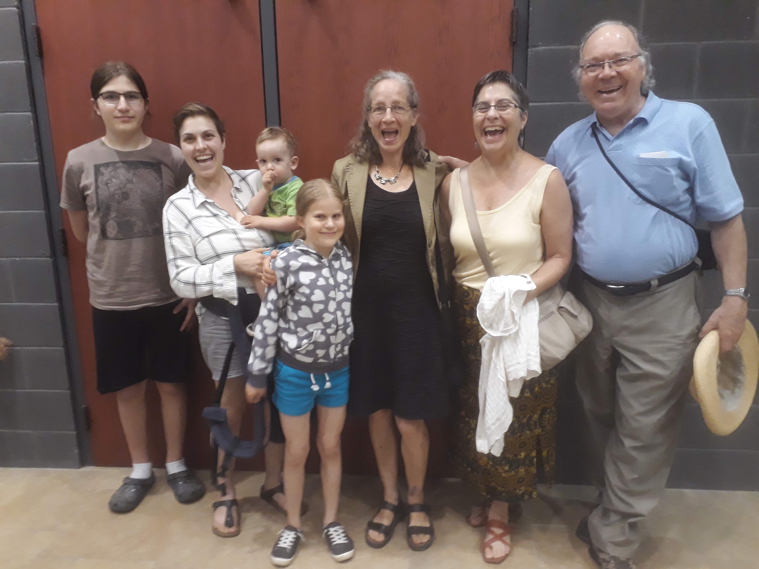 Post-music theatre camp show celebration with family and our awesome neighbor Barbara
