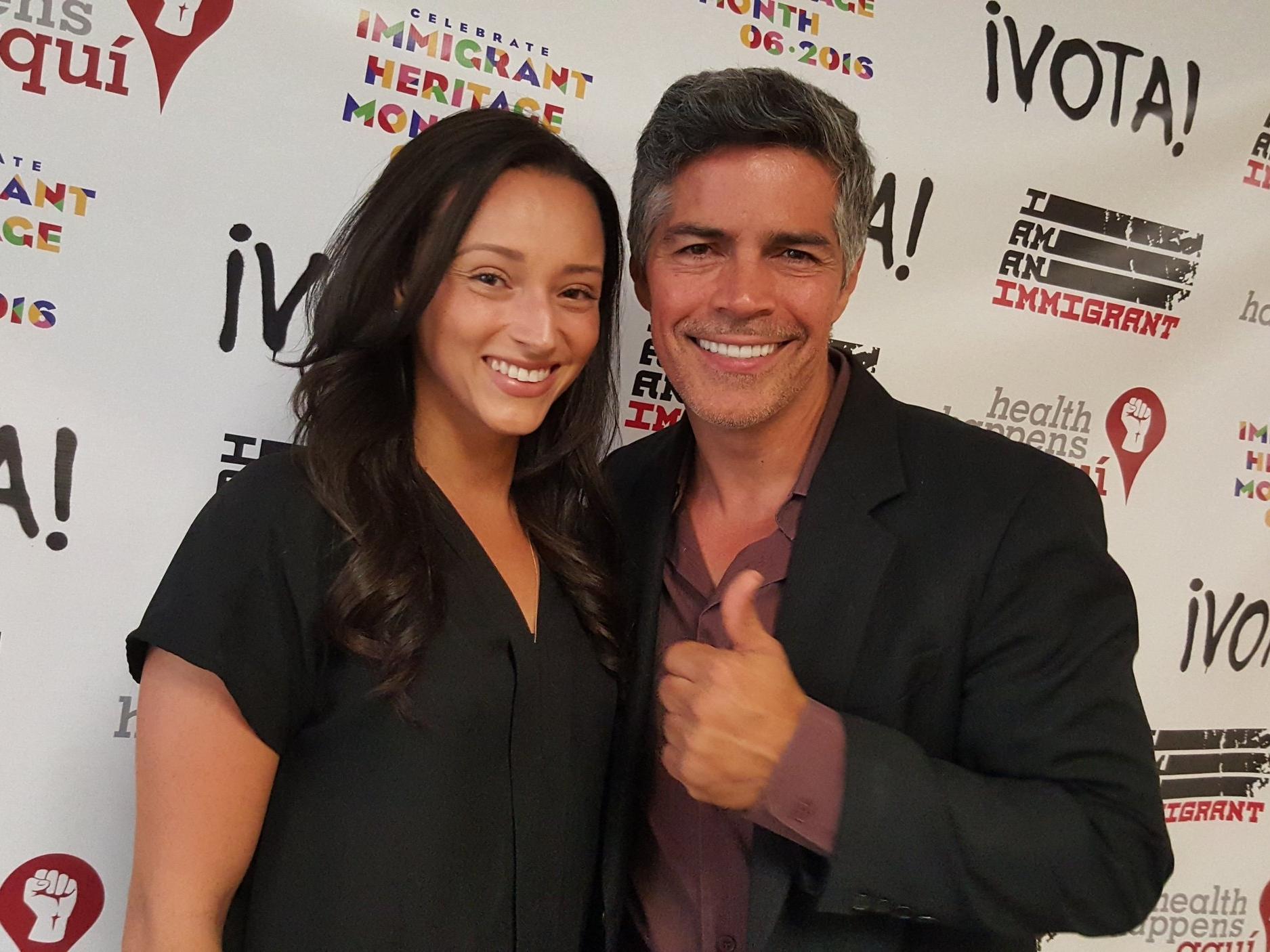 Danielle Vega and Esai Morales