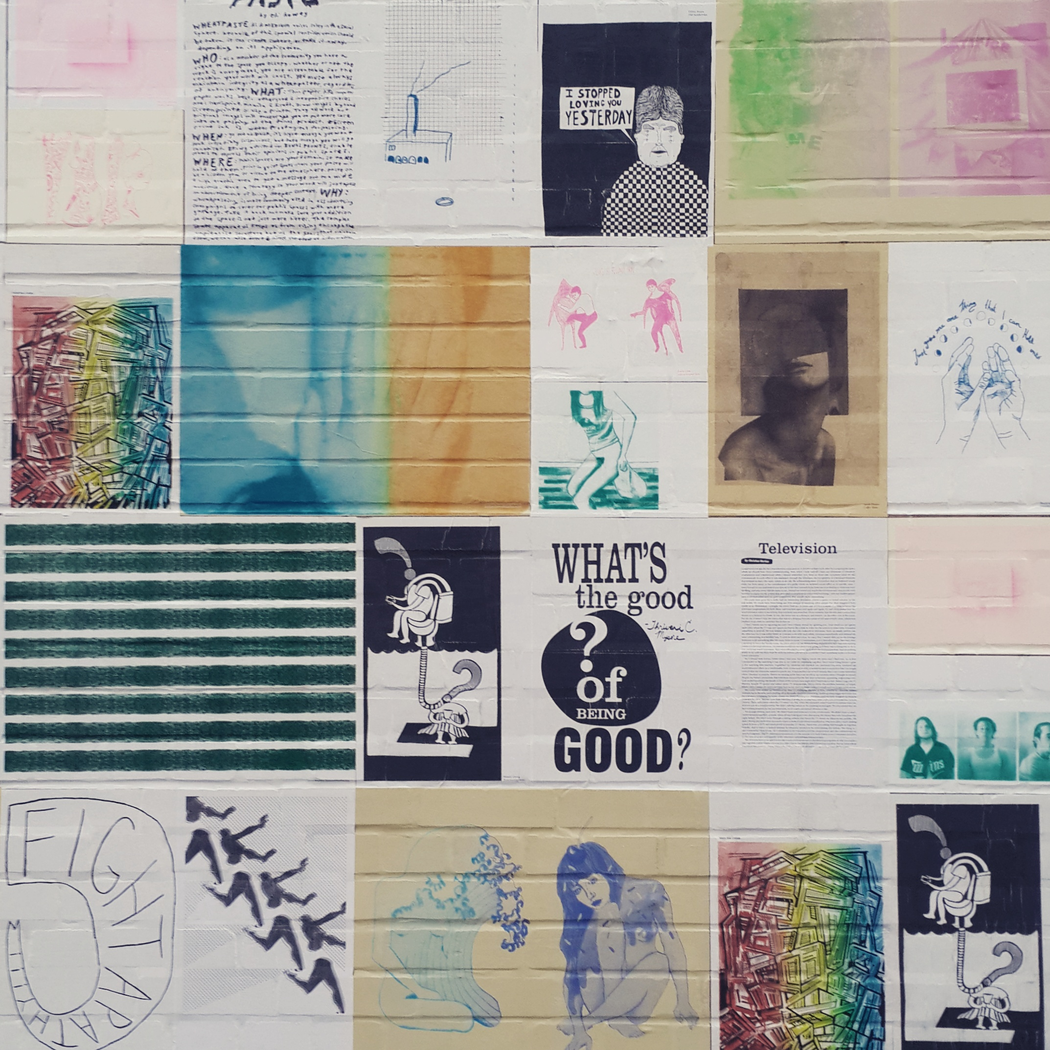 Lovely wheatpaste installation by  Patterns Magazine  on the outside wall!