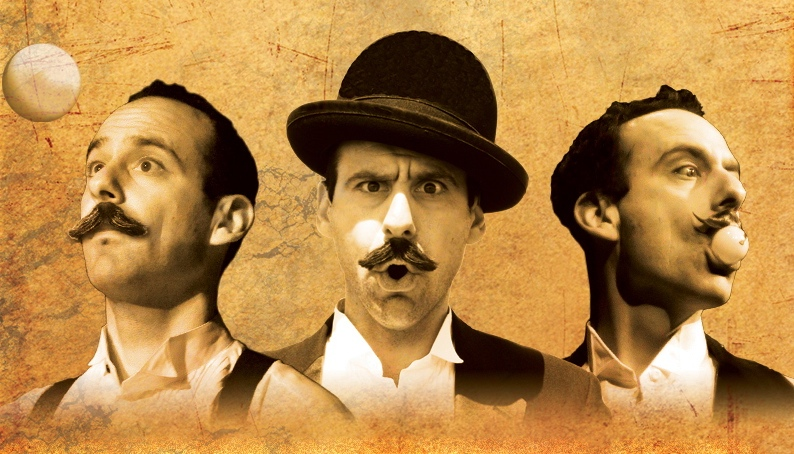 The Great Balanzo! triple portrait.