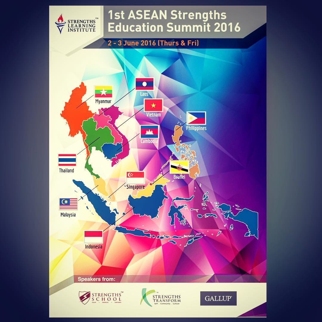 1st #ASEAN Strengths #Education Summit 2016 - #StrengthsFinder in #Singapore Schools     The 1st day of the Strengths Summit and we are happy to be hosting members from around the ASEAN region in the very 1st Strengths Summit of its kind    We at Strengths School™ partner with Strengths Transform™ & Gallup to bring you the latest in StrengthsFinder human-technology. Together, we have trained over 1,000 teachers and 5,000 students and passionate to continue to impact the lives of future leaders    There will be different StrengthsFinder workshops for educators to attend while students will be able to participant in one of the most interactive and immersive learning experiences that Victor Seet created - GAME of LIFE    We look forward to hosting you over the next 2 days    #ASEdu2016    #StrengthsQuest #StrengthsSchool #Gallup #StrengthsFinderSG #Asia #HumanResource #SelfImprovement #SelfDevelopment #StrengthsCoach #ProfessionalDevelopment #StrengthsFinderCoach    Jason Ho • SouthEast Asia's 1st StrengthsFinder Certified Coach • Strengths School™ Singapore