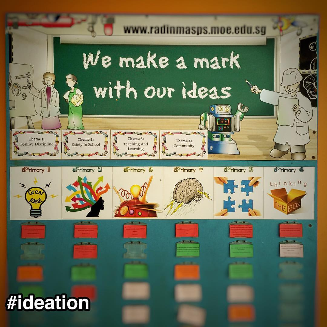 #StrengthsFinder #ideation at Radin Mas School #Singapore    Was doing a full day workshop for 80 teachers and found this interesting board that Victor Seet pointed out to me which says: We make a mark our with ideas    That's sounds like a mantra for all those people gifted with ideation. Ideas comes naturally and sometimes in waterfalls of rainbow creativity. We thrive, drinking on the waters of freedom and playing outside the box of normality    A blank canvas is almost shouting out to us to pen down our ideas and sketch out the impossible. When I first did StrengthsFinder some 10 years ago, the ideation talent theme helped me to understand my compulsion toward poetry, plays, song writing and even inventions. Burning through moleskines with a gasoline-filled fountain pen. Sparking many random thoughts on almost everything that flies into my mind    Needless to say, ideation is my number 1 StrengthsFinder talent theme    Best described by the StrengthsFinder definition of ideation: You are fascinated by ideas. What is an idea? An idea is a concept, the best explanation of the most events. You are delighted when you discover beneath the complex surface an elegantly simple concept to explain why things are the way they are. An idea is a connection. Yours is the kind of mind that is always looking for connections, and so you are intrigued when seemingly disparate phenomena can be linked by an obscure connection. An idea is a new perspective on familiar challenges. You revel in taking the world we all know and turning it around so we can view it from a strange but strangely enlightening angle. You love all these ideas because they are profound, because they are novel, because they are clarifying, because they are contrary, because they are bizarre.    #StrengthsQuest #StrengthsSchool #Gallup #StrengthsFinderSG #Asia #HumanResource #SelfImprovement #SelfDevelopment #StrengthsCoach #ProfessionalDevelopment #StrengthsFinderCoach    Jason Ho • SouthEast Asia's 1st StrengthsFinder Certified Coach • Strengths School™ Singapore