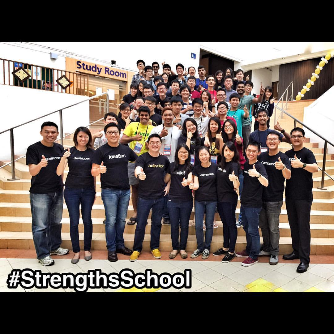 "#StrengthsFinder workshop for 50 top leaders at #Singapore's #University - #NUS (National University of Singapore)    Managed to take a photo together with an amazing Strengths School™ Team of dedicated individuals whose mission was to positively and deeply impact the lives of these student leaders    We talked about leadership, team-building, creating a culture of respect for each unique individual and how they can better serve the student body at large starting from their StrengthsFinder talents     We had loads of fun during our 'Game of LIFE' segment with them and the debrief session was one of the richest and deepest that I've personally heard    There was a sharing I liked ""I was aiming 'X' in the 'Game of LIFE' and when 'X' was taken away, I couldn't recover back. I question myself why I couldn't recover back since it wasn't that important to begin with"". And now reflecting back, he is questioning what are some of those 'Xs' in real life for him    Sometimes the unimportant distractions in life have such a strong influence on how we live that we miss the important purpose in living who we were called to be     I hope these privileged adult leaders use the sessions of deep self-discovery to become better leaders. Leader that lead with their Strengths rather than try to be someone else     #NUSengineering #EnginClub    #StrengthsQuest #StrengthsSchool #StrengthsFinderSG #Asia #HumanResource #Gallup #SelfImprovement #SelfDevelopment #TrainingAndDevelopment #ProfessionalDevelopment #StrengthsFinderCoach    Jason Ho • SouthEast Asia's 1st StrengthsFinder Certified Coach • Strengths School™ Singapore"