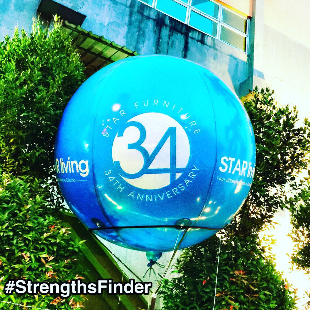 Balloon of #34 #StrengthsFinder strengths in #Singapore. Seen at #StarLiving as they celebrate their 34th anniversary.     34 means diversity, acceptance and honouring the uniqueness in all.    #StrengthsQuest #StrengthsSchool #StrengthsFinderSG #Asia #HumanResource #Gallup #SelfImprovement #SelfDevelopment #TrainingAndDevelopment #ProfessionalDevelopment #StrengthsFindercoach     Jason Ho StrengthsFinder Coach • Strengths School™ Singapore