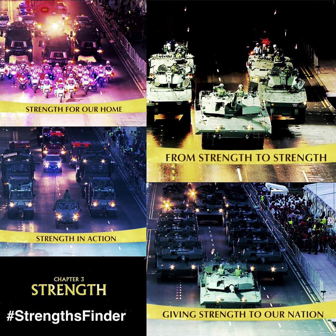#StrengthsFinder in #Singapore #NDP2015 showing #Strength of the Nation    Strength was a portion of the National Day Parade (Chapter 3) which showcased our military might.    As elections fever is strong underway, it is good to reflect the resilience and strength that our leaders have demonstrated these last 50 years. Especially embodied by the strength of our late Prime Minister - Lee Kuan Yew    May we as a nation of Singapore find the strength to elect those we feel show the same strong leadership that has led us this far.    #StrengthsQuest #StrengthsSchool #StrengthsFinderSG #Asia #HumanResource #Gallup #SelfImprovement #SelfDevelopment #TrainingAndDevelopment #ProfessionalDevelopment #StrengthsFinderCoach    Jason Ho StrengthsFinder Coach •Strengths School™ Singapore