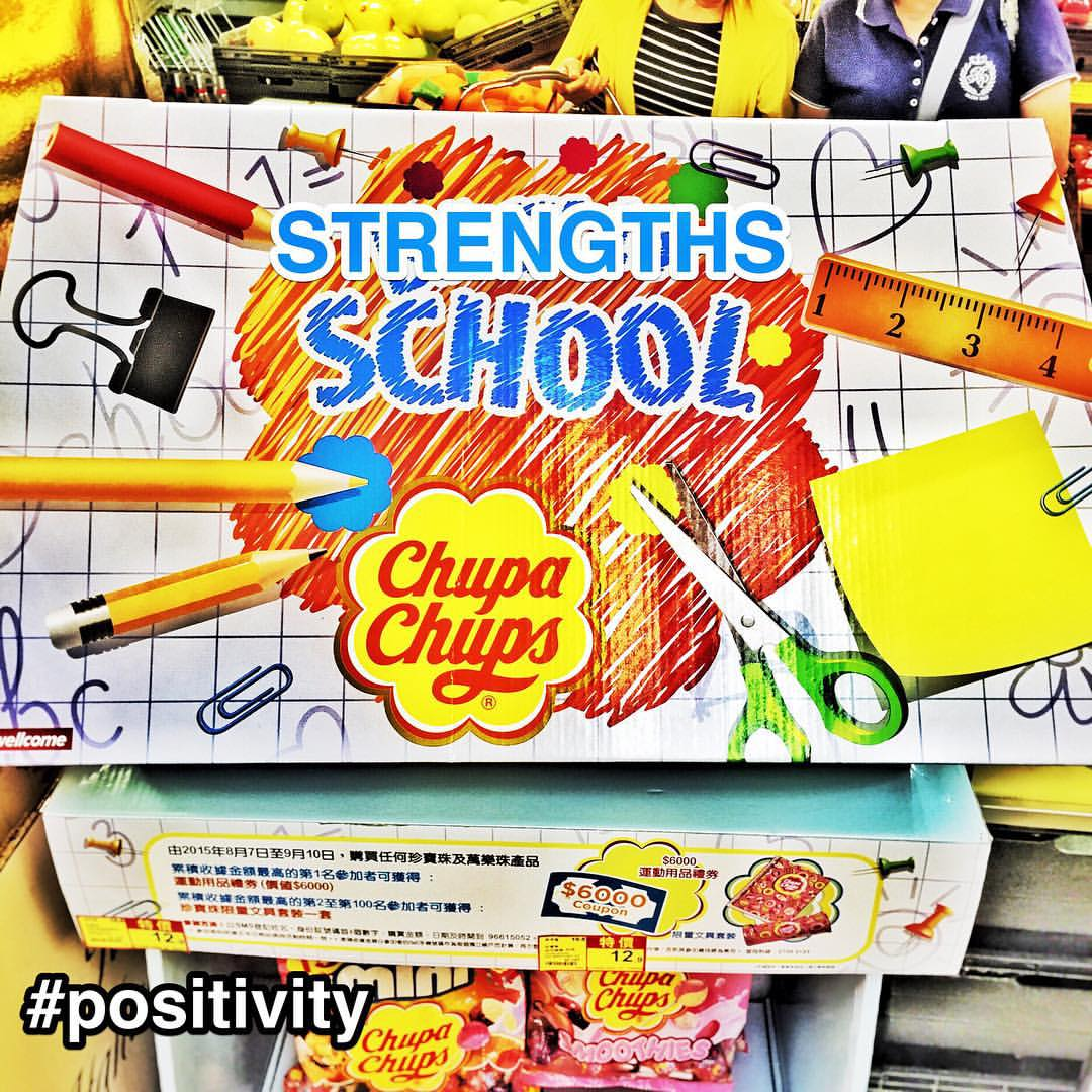 "#StrengthsFinder Strengths School #Singapore & #ChupaChups have an unofficial ""official"" tie up    Strengths School™ is expanding its repertoire from providing StrengthsFinder Workshops and trainings to the most logical next step…. Lollipops    StrengthsFinder #Positivity definition: You find ways to make every thing more exciting and more vital    FYI: saw this in a HongKong supermarket and the actual words were 'Back to' rather than STRENGTHS    PS: If ChupaChups legal team is reading this, please read the StrengthsFinder definition of Positivity    #StrengthsQuest #StrengthsSchool #StrengthsFinderSG #Asia #HumanResource #Gallup #SelfImprovement #SelfDevelopment #TrainingAndDevelopment #ProfessionalDevelopment #StrengthsFinderCoach    Jason Ho StrengthsFinder Coach • Strengths School™ Singapore"