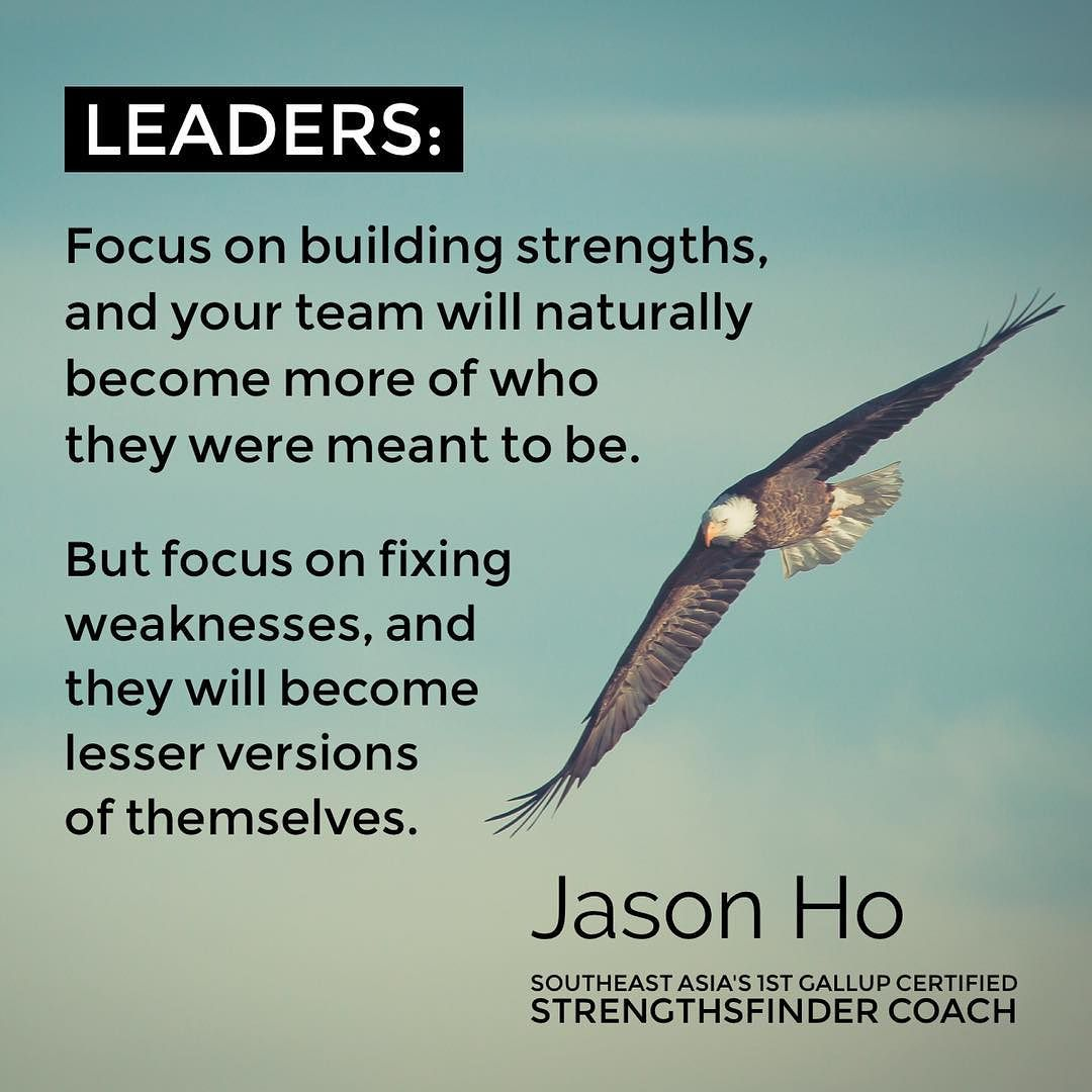 Singapore - StrengthsFinder CoachJasonHo quote for Leaders