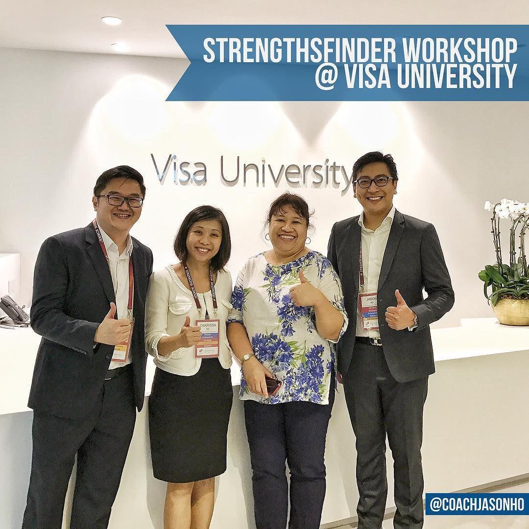 StrengthsFinder Workshop at Singapore's VISA University in Raffles Place