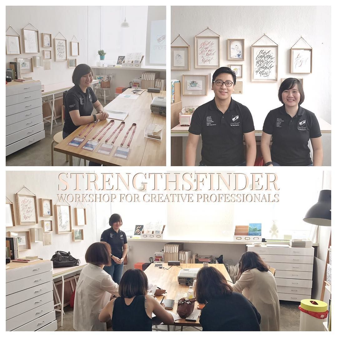 Singapore StrengthsFinder Workshop for Creative Professionals over at SeahStreet theletterjsupply studio